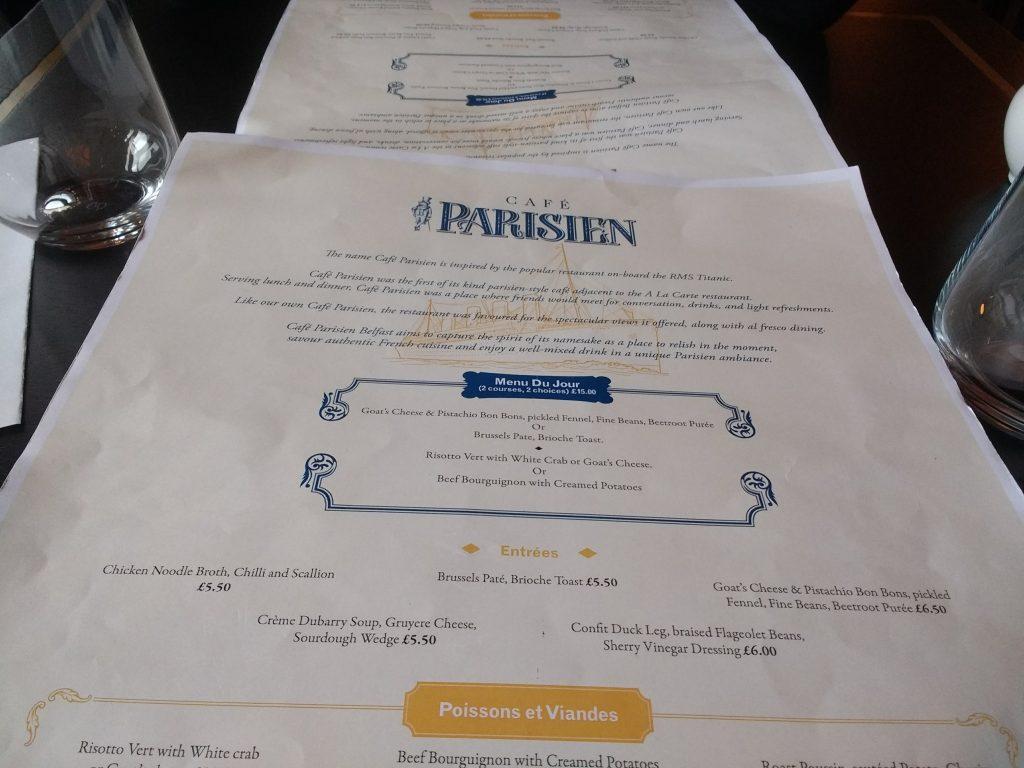 Café Parisien Belfast